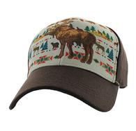 VM222 Native Moose Velcro Cap (Native & Brown )