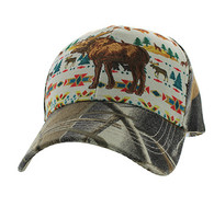VM222 Native Moose Velcro Cap (Native & Hunting Camo )