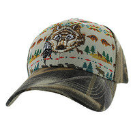 VM222 Native Wolf Velcro Cap (Native & Hunting Camo)