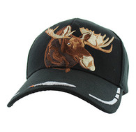VM589 Native Pride Moose Velcro Cap (Solid Black)