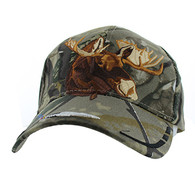 VM589 Native Pride Moose Velcro Cap (Solid Hunting Camo)