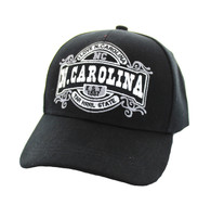 VM410 N. Carolina Velcro Cap (Solid Black )