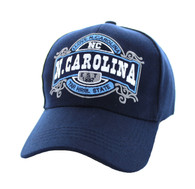VM410 N. Carolina Velcro Cap (Solid Navy)