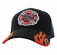 VM440 Fire Logo with Truck Velcro Cap (Solid Black)