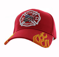 VM440 Fire Logo with Truck Velcro Cap (Solid Red)