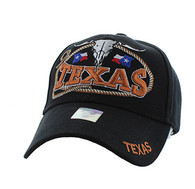 VM472 Texas Velcro Cap (Solid Black)