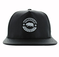 SM581 Cali Bear Snapback (Solid Black)