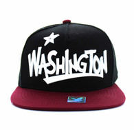 SM355 Washington State Snapback (Black & Burgundy)