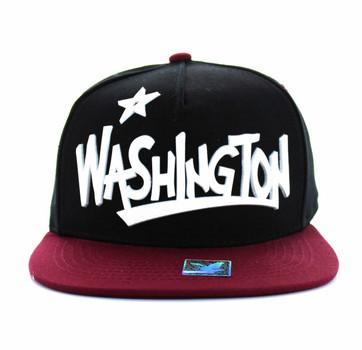 SM355 Washington State Snapback (Black   Burgundy) - Ace Cap b61106570944