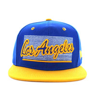 SM236 Los Angeles City Snapback (Royal & Gold)