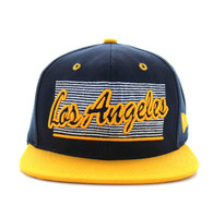 SM236 Los Angeles City Snapback (Navy & Gold)