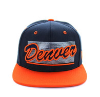 SM236 Denver City Snapback (Navy & Orange)