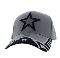 VM421 Big Star Velcro Cap (Light Grey & Navy)