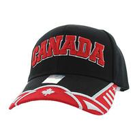 VM421 Canada Velcro Cap (Black & Red)