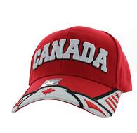 VM421 Canada Velcro Cap (Red & White)
