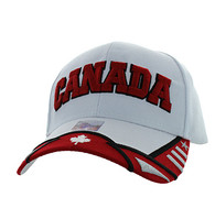 VM421 Canada Velcro Cap (White & Red)