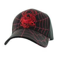 VM009 Spider Velcro Cap (Solid Black)