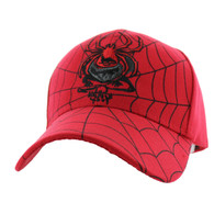 VM009 Spider Velcro Cap (Solid Red)