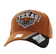 VM471 Texas Velcro Cap (Texas Orange & Black)