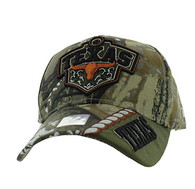 VM471 Texas Velcro Cap (Hunting Camo & Olive)