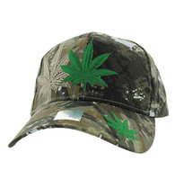 VM199 Marijuana Velcro Cap (Solid Hunting Camo)