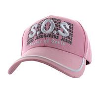 VM110 Savior of Souls Jesus Velcro Cap (Solid Light Pink)