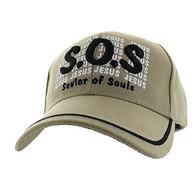 VM110 Savior of Souls Jesus Velcro Cap (Solid Khaki)