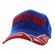 VM421 Puerto Rico Velcro Cap (Royal & Red)