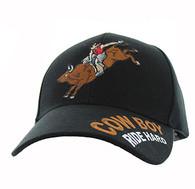 VM560 Cowboy Velcro Cap (Solid Black)