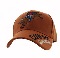 VM560 Cowboy Velcro Cap (Solid Texas Orange)