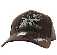 VM568 Texas Velcro Cap (Solid Brown)