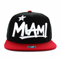 SM355 Miami City Snapback (Black & Red)