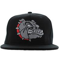 SM558 Bulldog Snapback Cap (Solid Black)
