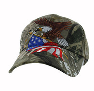 VM040 American USA Eagle Velcro Cap (Solid Hunting Camo)