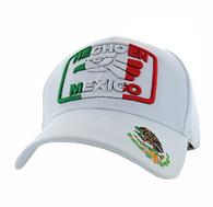 VM168 HECHO EN MEXICO Eagle Velcro Cap (Solid White)