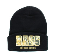 WB040 BASS Long Beanie (Solid Black)