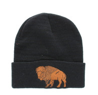 WB040 Buffalo Long Beanie (Solid Black)