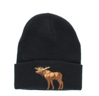 WB040 Moose Long Beanie (Solid Black)