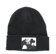 WB040 Cowboy Long Beanie (Solid Black)