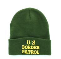 WB040 U.S Border Patrol Long Beanie (Solid Olive)
