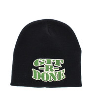 WB050 GIT R DONE Short Beanie (Solid Black)