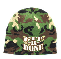 WB050 GIT R DONE Short Beanie (Military Camo)