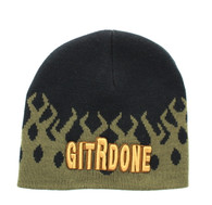 WB050 GIT R DONE Short Beanie (Olive & Black)