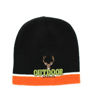 WB050 Outdoor Sports Short Beanie (Black & Orange)