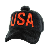 WV033 USA Velcro Cap (Solid Black)