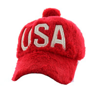 WV033 USA Velcro Cap (Solid Red)