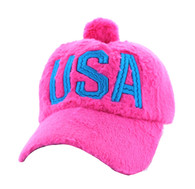 WV033 USA Velcro Cap (Solid Hot Pink)