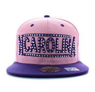 SM331 North Carolina State Snapback (Light Pink & Purple)
