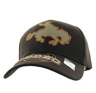 VM212 Rodeo Horse Rider Velcro Cap (Solid Brown)