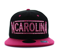 SM331 North Carolina State Snapback (Black & Hot Pink)